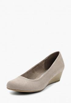 Женские бежевые туфли на каблуке