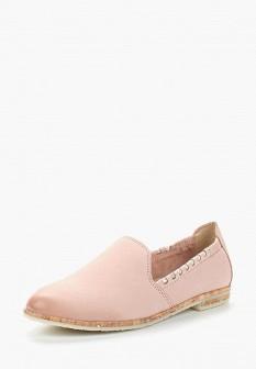 Женские розовые туфли лоферы