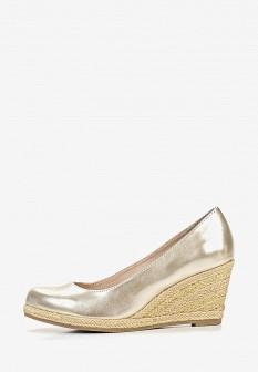 Женские серебряные кожаные туфли на каблуке на платформе