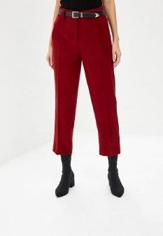 Женские бордовые осенние брюки