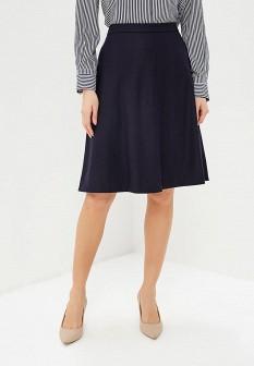 Синяя осенняя юбка