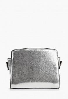 Женская серебряная кожаная сумка