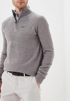 Мужской серый осенний свитер