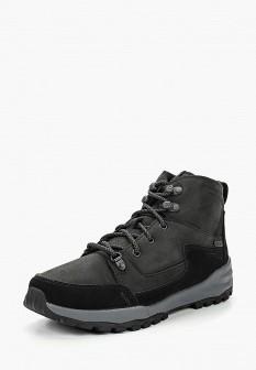 Женские черные трекинговые ботинки из нубука на платформе