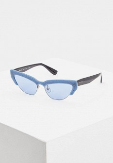 Женские голубые итальянские солнцезащитные очки