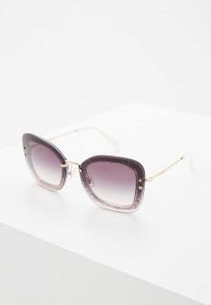 Женские фиолетовые итальянские осенние солнцезащитные очки