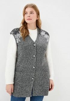 Женский серый осенний жилет Milana Style