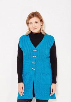Женский синий осенний жилет Milana Style