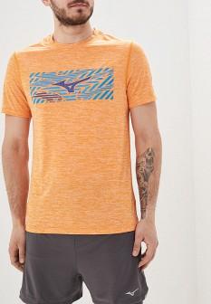 Мужская оранжевая футболка Mizuno