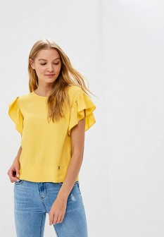 Желтая итальянская блузка Motivi