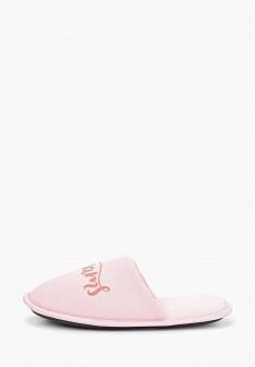 Женские розовые осенние тапочки