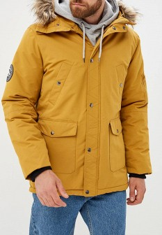 Мужская желтая утепленная осенняя куртка