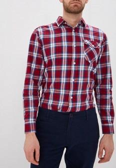 Мужская бордовая рубашка