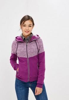 Женская фиолетовая осенняя толстовка