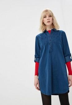 Синее джинсовое платье Modis