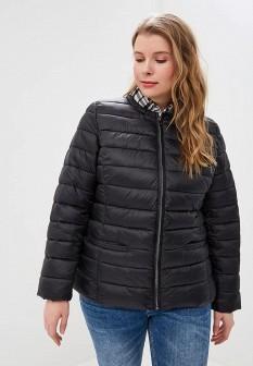 Женская черная утепленная куртка