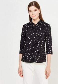 Женская черная осенняя рубашка