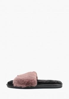 Женские коричневые меховые тапочки