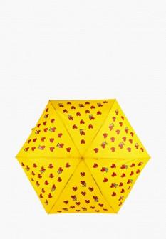 Женский желтый осенний складной зонт