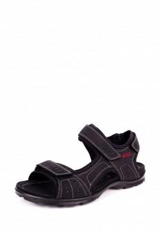 Мужские черные сандалии из нубука