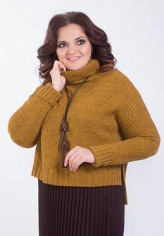 Женский желтый свитер