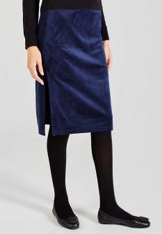Синяя осенняя юбка Sana.moda