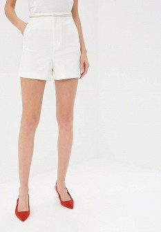 Женские белые шорты NAF NAF