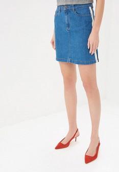 Синяя юбка NAF NAF