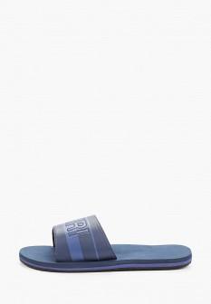 Мужские синие осенние кожаные сандалии