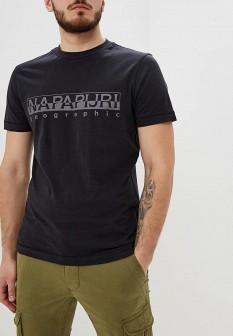 Мужская черная футболка NAPAPIJRI
