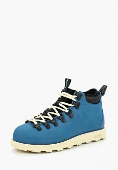 Мужские синие осенние ботинки на платформе