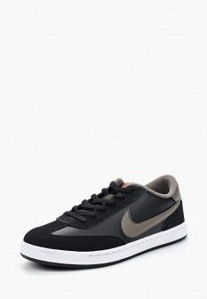 Мужские черные кожаные кеды Nike