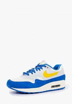Мужские синие осенние кожаные кроссовки air max