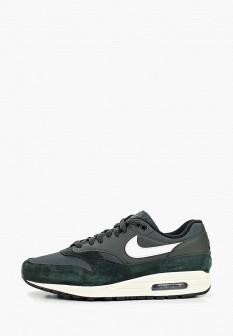 Мужские зеленые осенние кожаные кроссовки air max