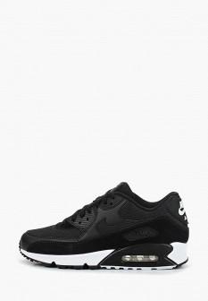 Мужские черные кожаные кроссовки air max