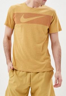 Мужская коричневая спортивная футболка