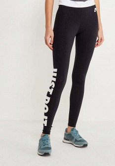 Черные осенние леггинсы Nike