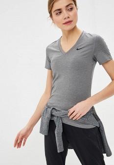 Женская серая спортивная футболка