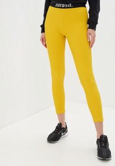 Желтые осенние леггинсы Nike