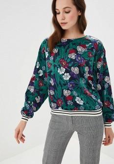Зеленая осенняя блузка ONLY