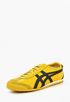 Женские желтые осенние кожаные кроссовки