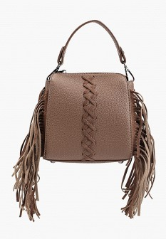 Женская коричневая красная осенняя кожаная сумка