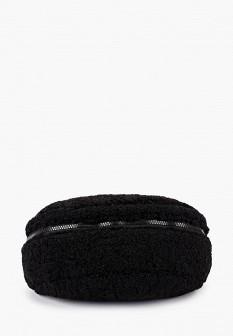 Женская черная осенняя меховая сумка