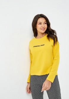 Женский желтый осенний лонгслив