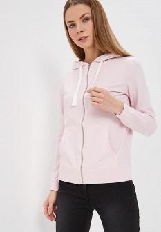 Женская розовая осенняя толстовка