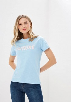 Женская голубая футболка OVS