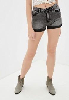 Женские серые осенние джинсовые шорты