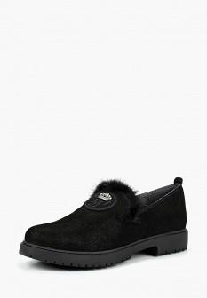 Женские черные осенние туфли лоферы