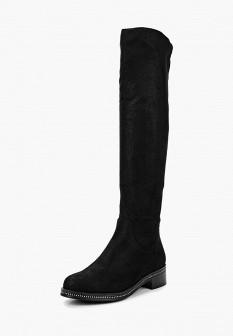 Черные осенние ботфорты
