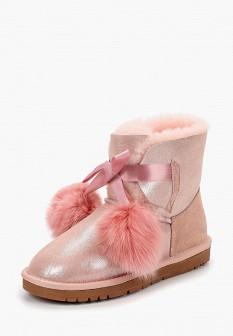 Женские розовые осенние сапоги